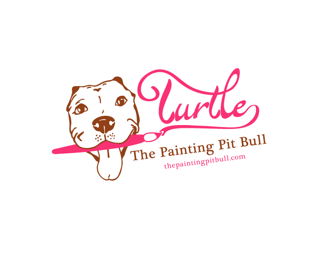 Turtle the Painting Pit Bull Logo