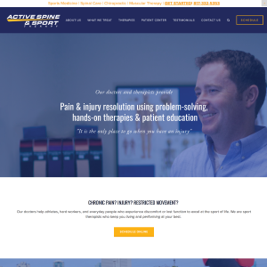 Active Spine and Sport Therapy Website