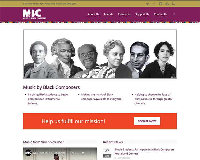 Music by Black Composers Website